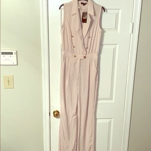 Other - Cream jumpsuit with gold buttons